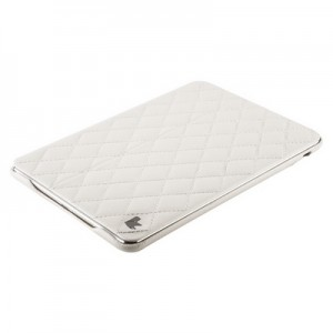 Чехол Jisoncase для iPad mini Retina| mini натуральная кожа со стеганым узором белый
