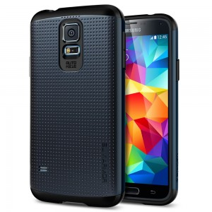 Galaxy S5 Case SGP Slim Armor Black