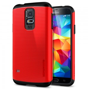 Galaxy S5 Case SGP Slim Armor Red