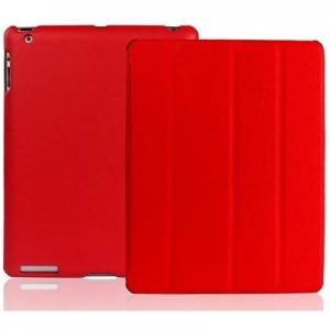 Apple iPad Leather Case Red
